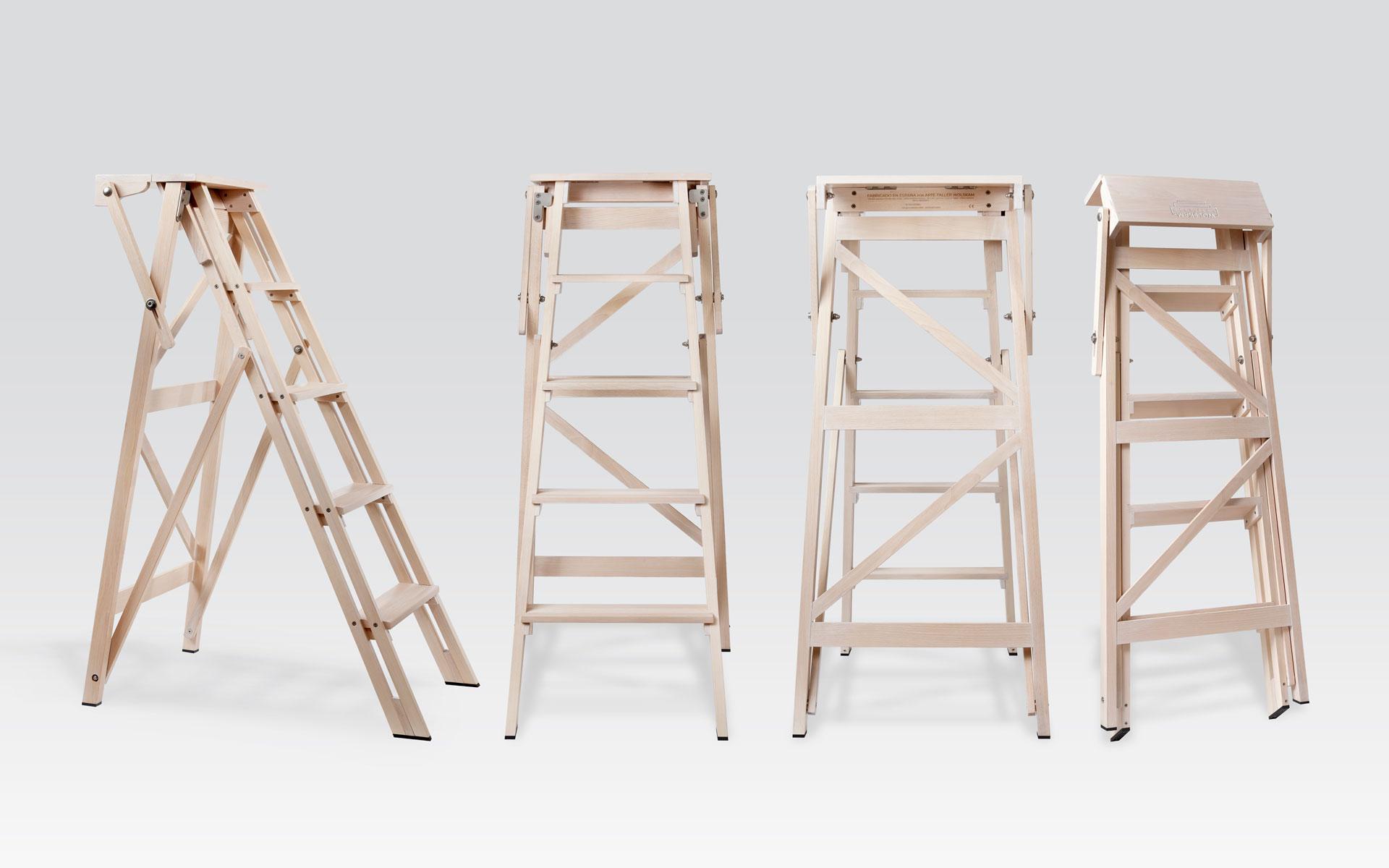 Escalera decorativa blanca de madera wolskam systems Escalera decorativa blanca